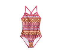 Kanu Surf Carrie Mixed-Print Swimsuit, Pink Combo