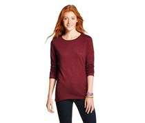 Mossimo Women's Top Long Sleeve, Maroon
