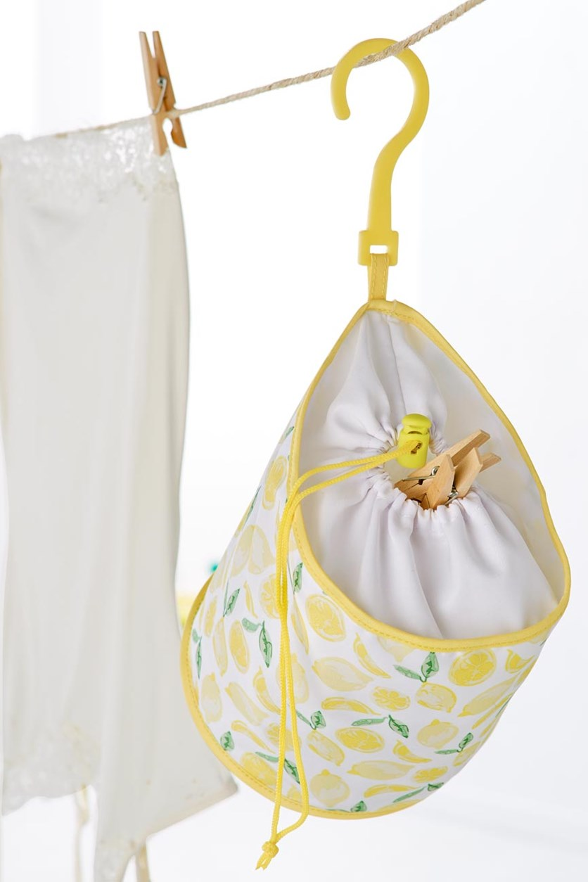 Laundry Bag, Yellow/White