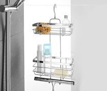 Shower Shelf Hanging, Silver Colored