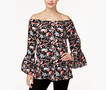 Olivia & Grace Printed Convertible Off-The-Shoulder Top, Black Combo