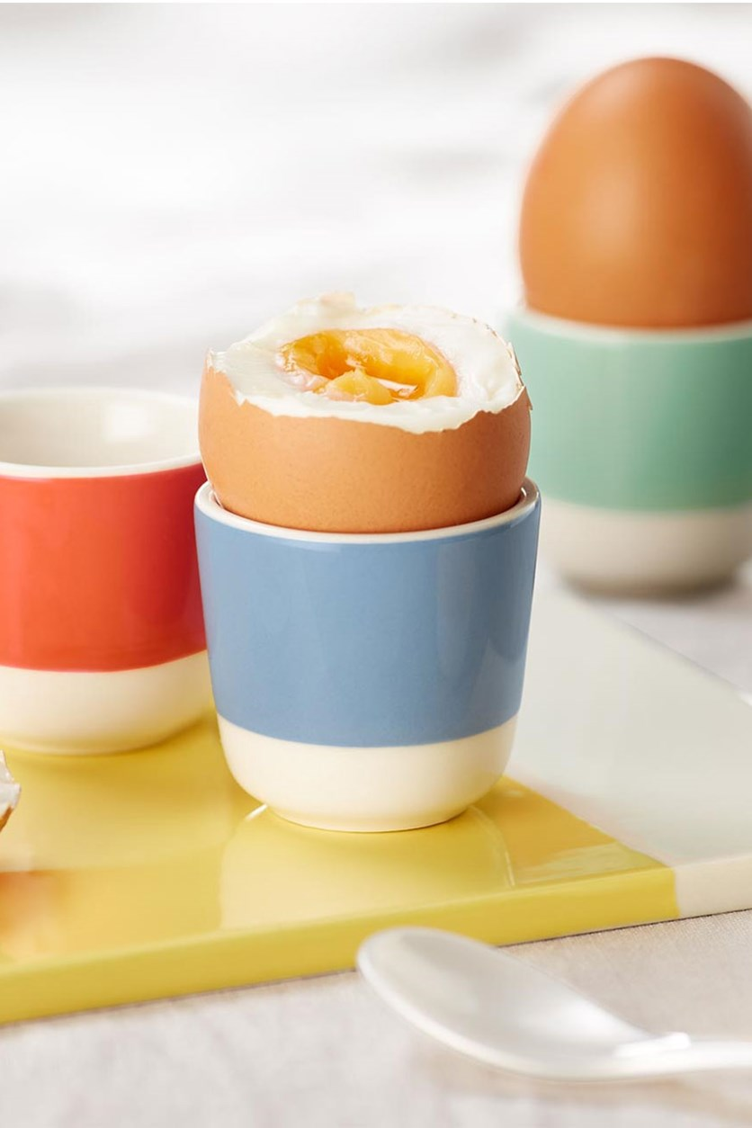 Egg Cups Set of 4, Yellow/Blue/Green/Orange