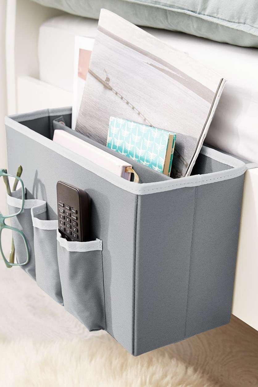 Bed Side Organizer, Grey