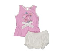 Guess Toddlers Graphic Print Set, Pink/White