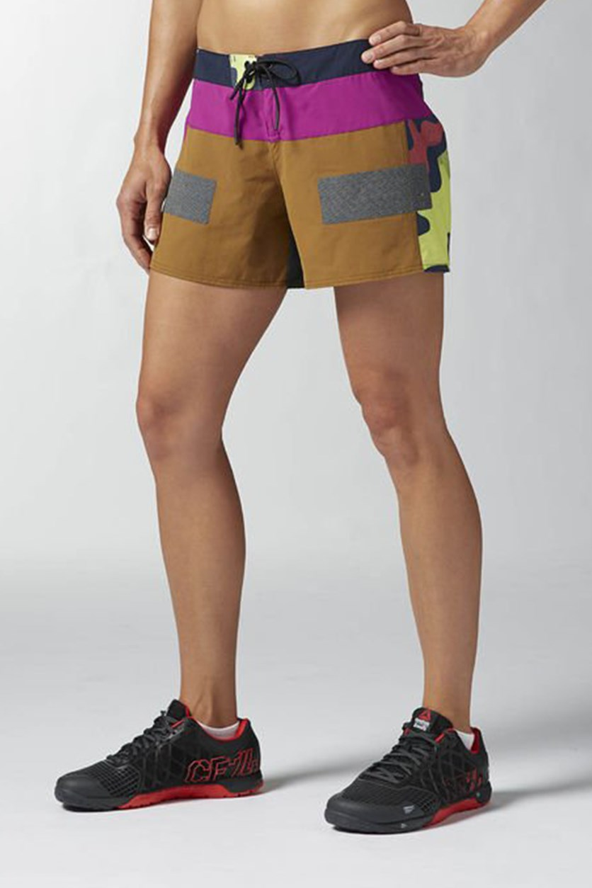 Womens Srosfit Short, Purple/Khaki/Slate