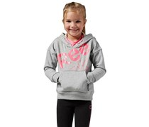 Reebok Kid's Girl Hoodie Sweater, Grey