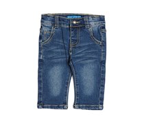 Guess Baby Girl's Slim 5 Pocket Jeans, Blue