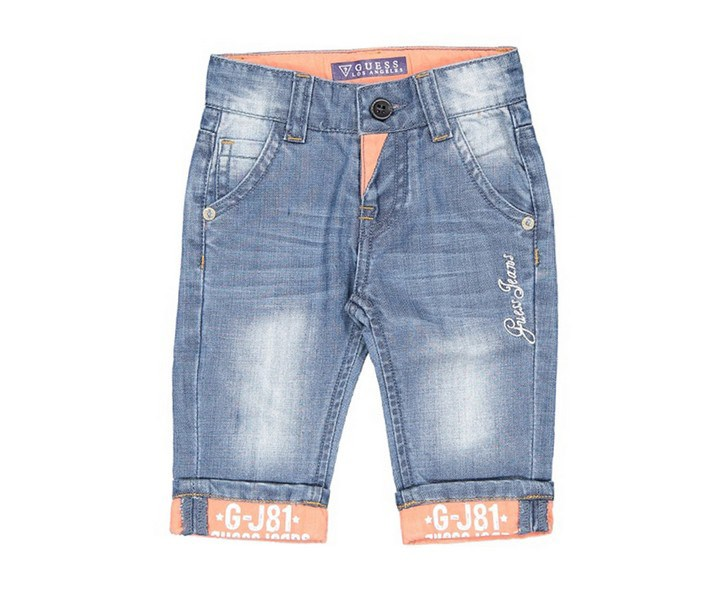 Guess Toddlers Five Pocket Jeans, Blue Wash