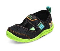 New Balance Little Boys and Girls Velcro Shoes, Black/Green