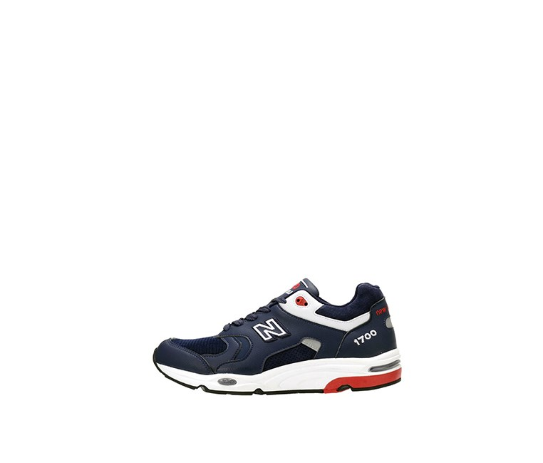 Leather Sneakers, Navy/Red/White