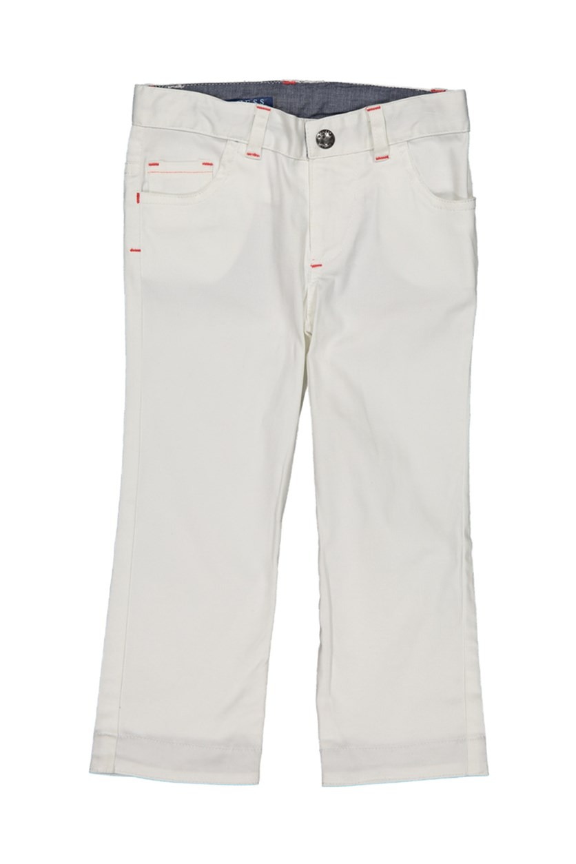 Toddlers Five Pocket Pants, White