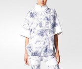 Women Run Floral Pull-On Top, White/Navy