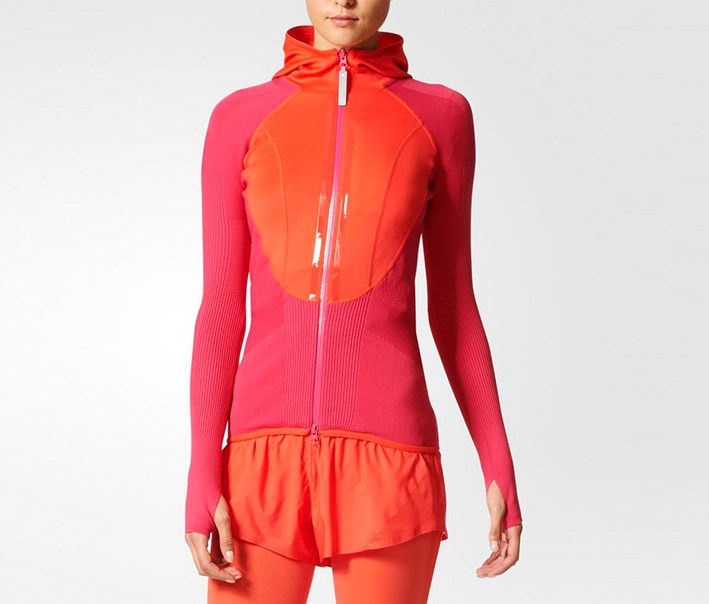 Women Run Engineered Top, Bright Red