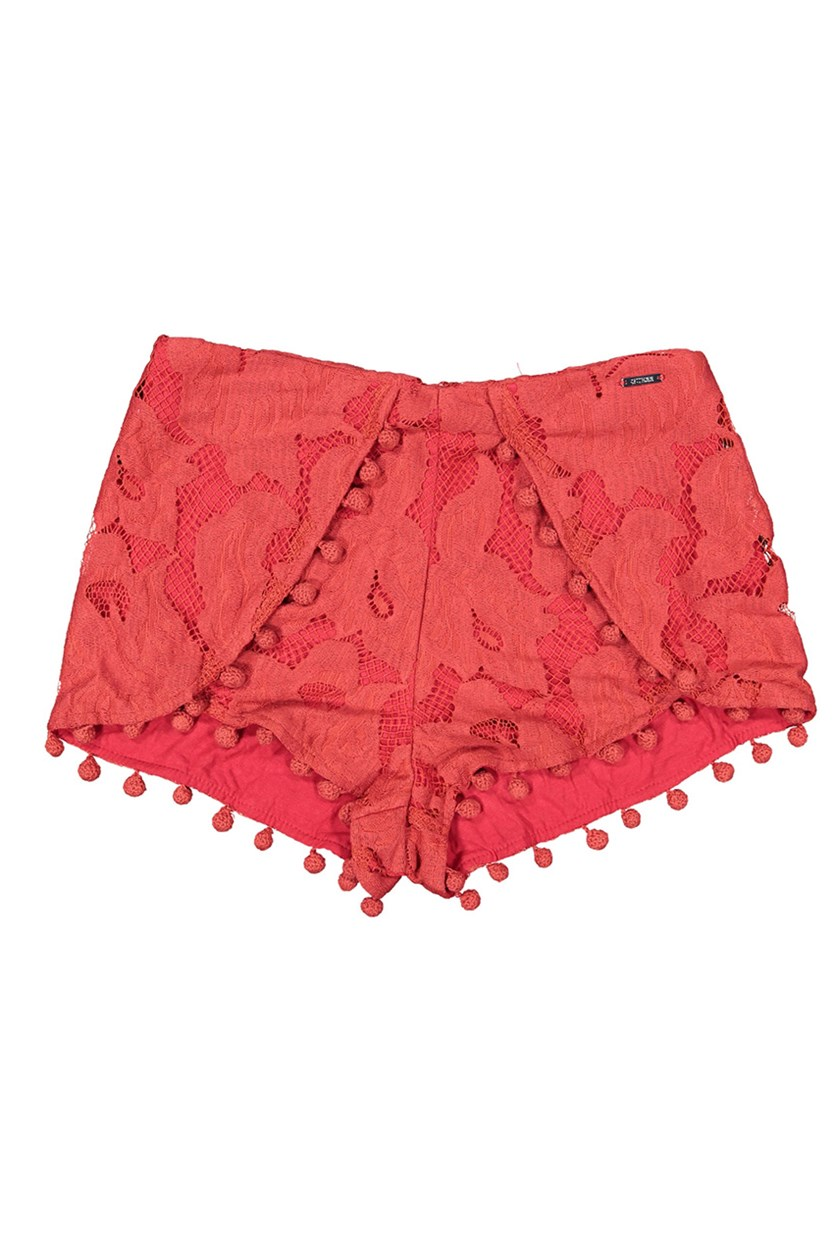 Womens Lace Short, Red