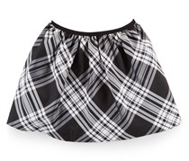 Ralph Lauren Girl's Plaid Pull-On Skirt, Black/Grey/White