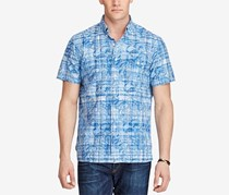 Polo Ralph Lauren Men's Big & Tall Printed Classic-Fit Shirt, Blue
