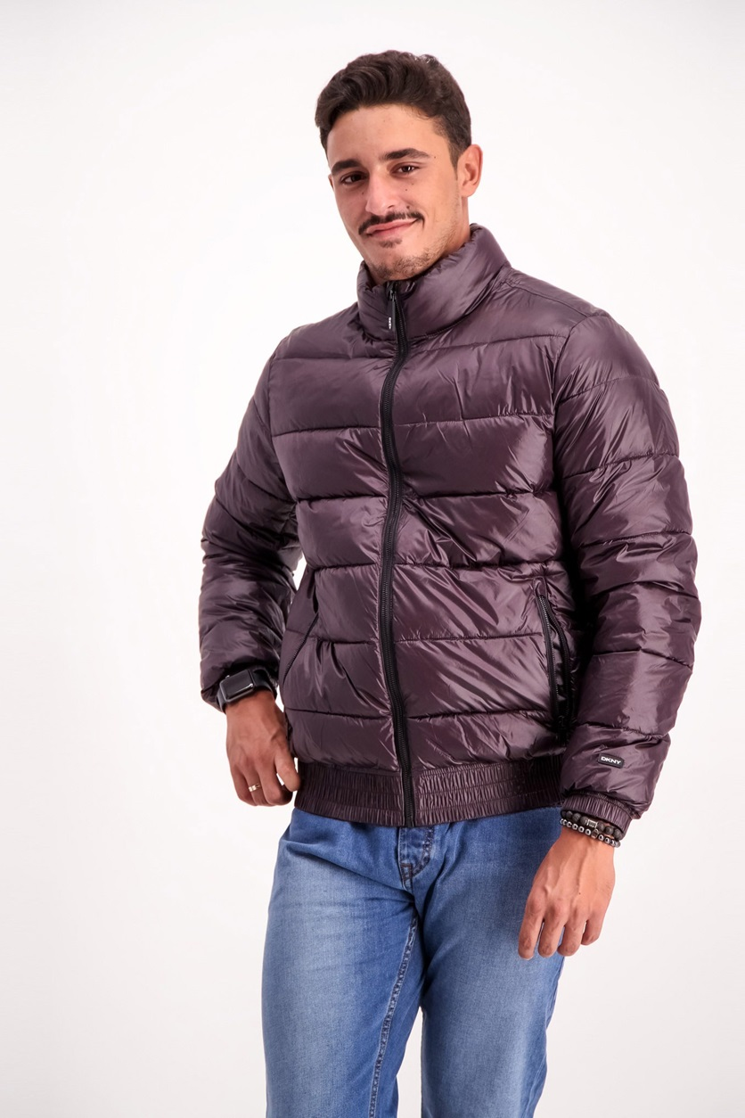 bf7642d6a Shop DKNY DKNY Men's Quilted Puffer Jacket, Burgundy for Men ...