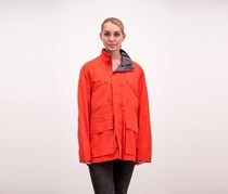 Marc New York Women's Hooded Jacket, Tangerine