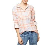 Sanctuary Womens Woven Plaid Button-Down Top, Nina Plaid