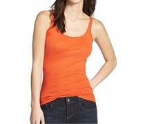 Halogen Women's Skinny Strap Tank, Orange