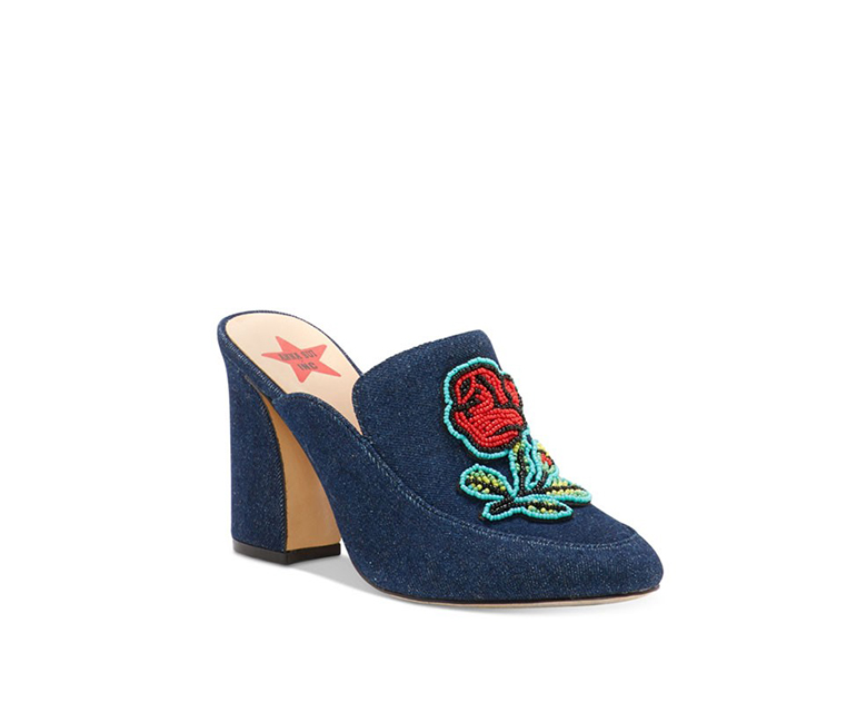 Inc International Concepts Maddiee Mules, Blue/Red