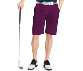 IZOD Men's Flat Front Classic, Deep Purple