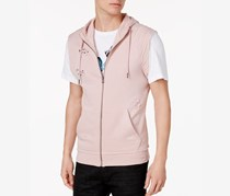 International Concepts Men's Deconstructed Hoodie Vest, Pink