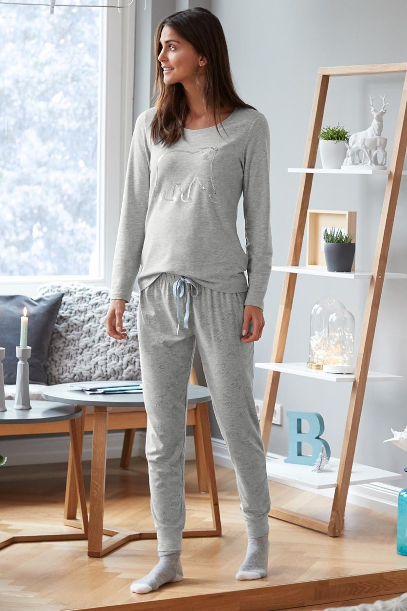 Women's Pajama Set, Grey