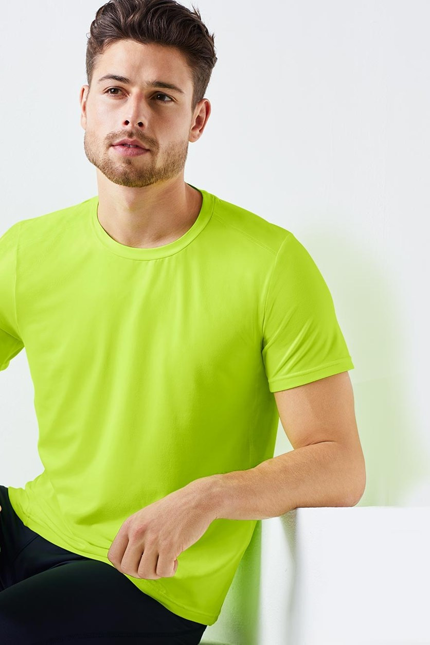 Men's Sports T-Shirt, Yellow Green