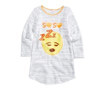 Emoji Nightgown, Light Grey