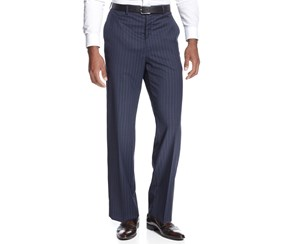 Sean John Blue Wide-Stripe Pants, Blue