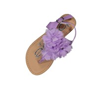Bebe Kid's Girls Ruffle Sandals, Purple