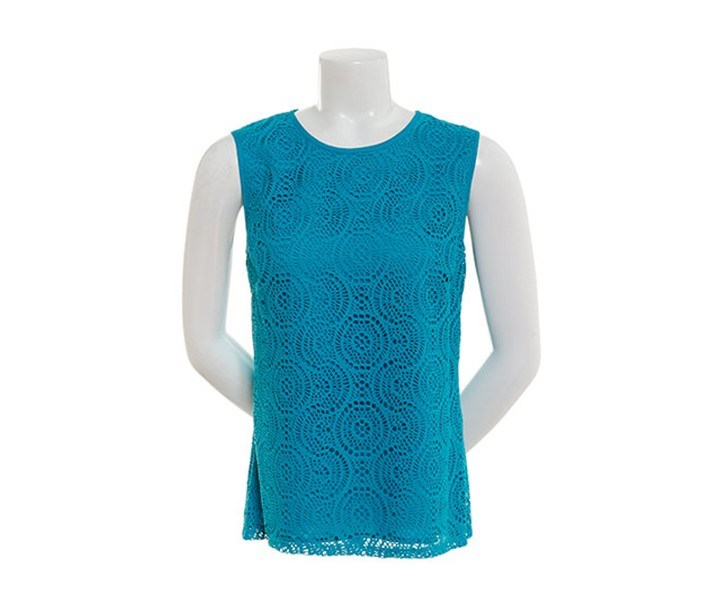 Women's Sleeveless Dreamcatcher Lace Layered Blouse, Opal