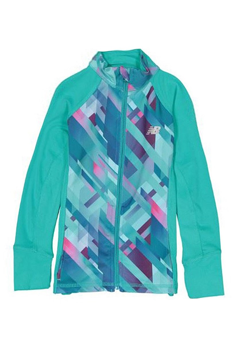 Big Girls' Athletic Full Zip Jacket, Teal