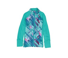New Balance Big Girls' Athletic Full Zip Jacket, Teal