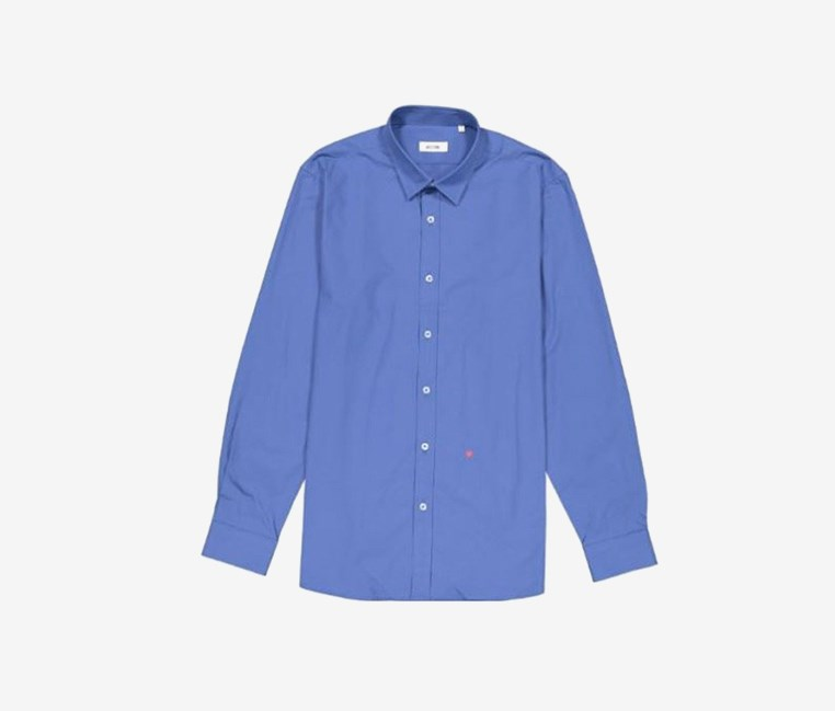 Men Dress Shirt Long Sleeve, Blue