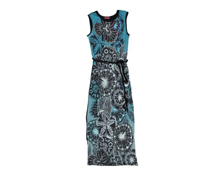 Women Dress, Blue/Black