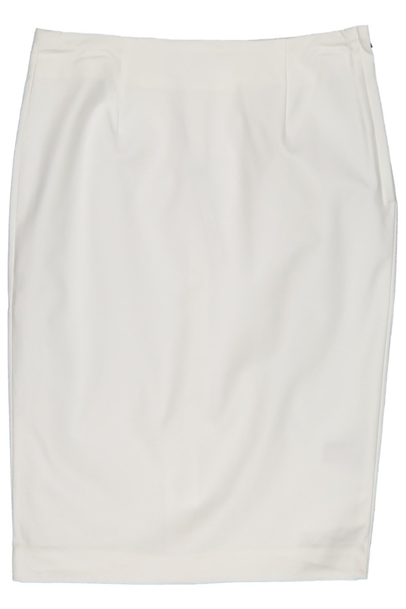 Women Classic Pencil Skirt, Snow White