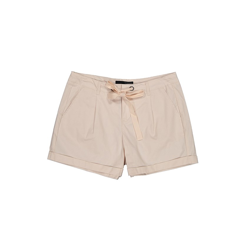 Women Poplin Drawstring Short, Shell