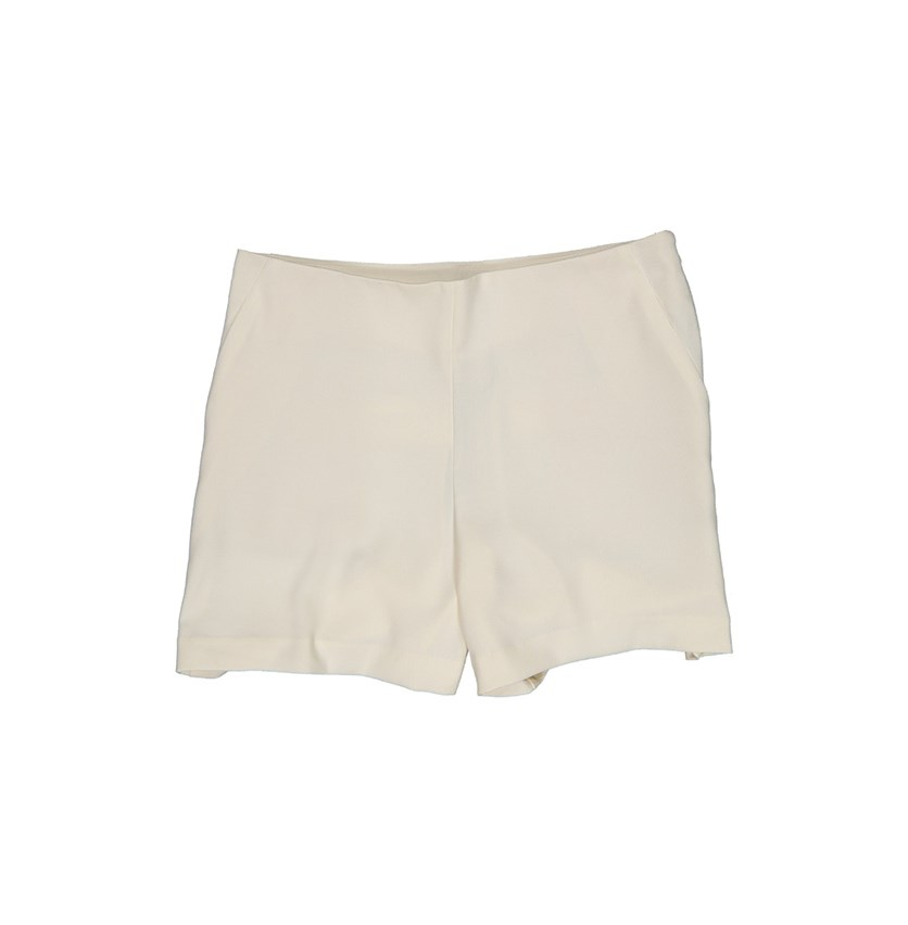 Women Side Zip Short, Gardenia