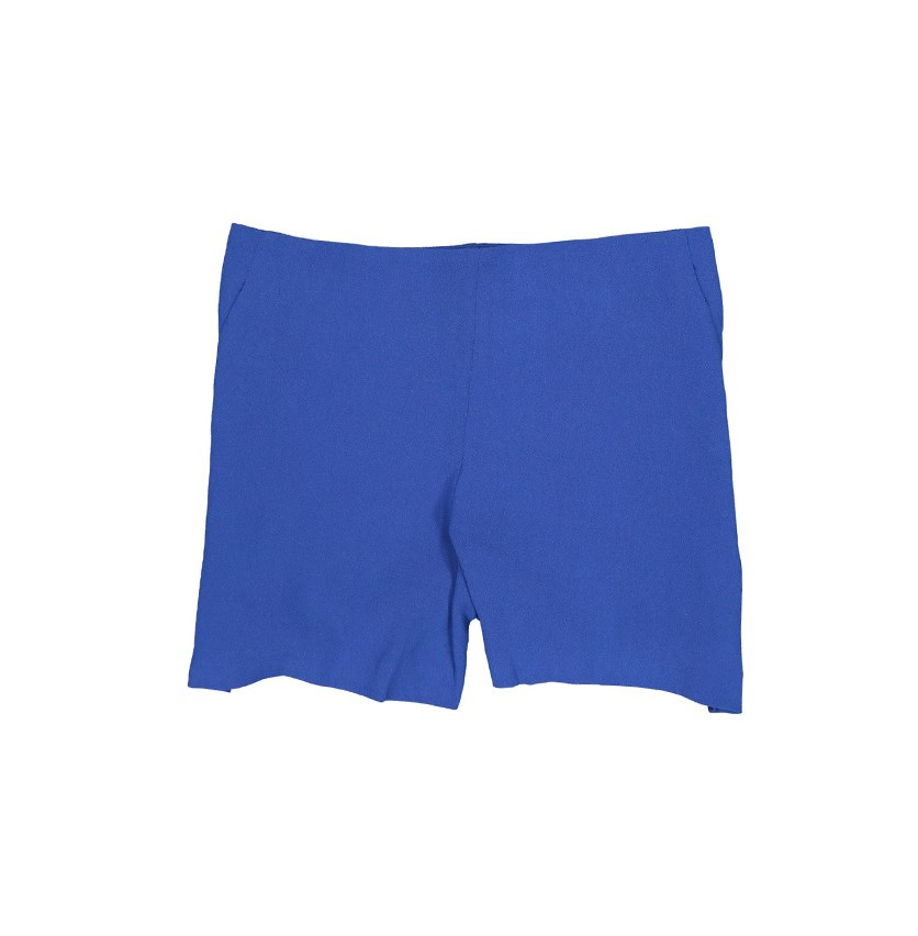 Women Side Zip Short, Sodalite Blue