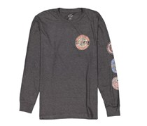 Flag & Anthem Men's Graphic Print Long Sleeve, Charcoal Heather