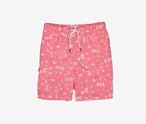 Rainforest Men's Beach Print Swim Short, Pink