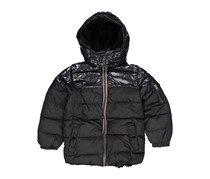 Tahari Kids Boys Hooded Puffer Jacket, Black