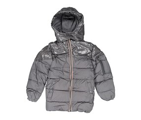 Tahari Kids Boys Hooded Puffer Jacket, Charcoal