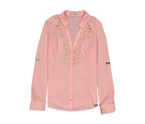 Guess Women's Shirt With Embroidery, Peach