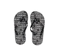 Bebe Girl's Printed Slipper, Black