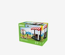 BRIO Market Stand, Black/Brown/Red