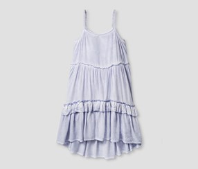 Art Class Girls' Tiered Dress, Purple