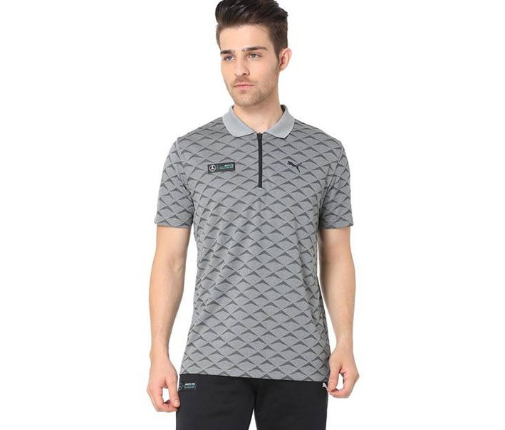 Men's Round Neck Sports T-Shirt, Grey